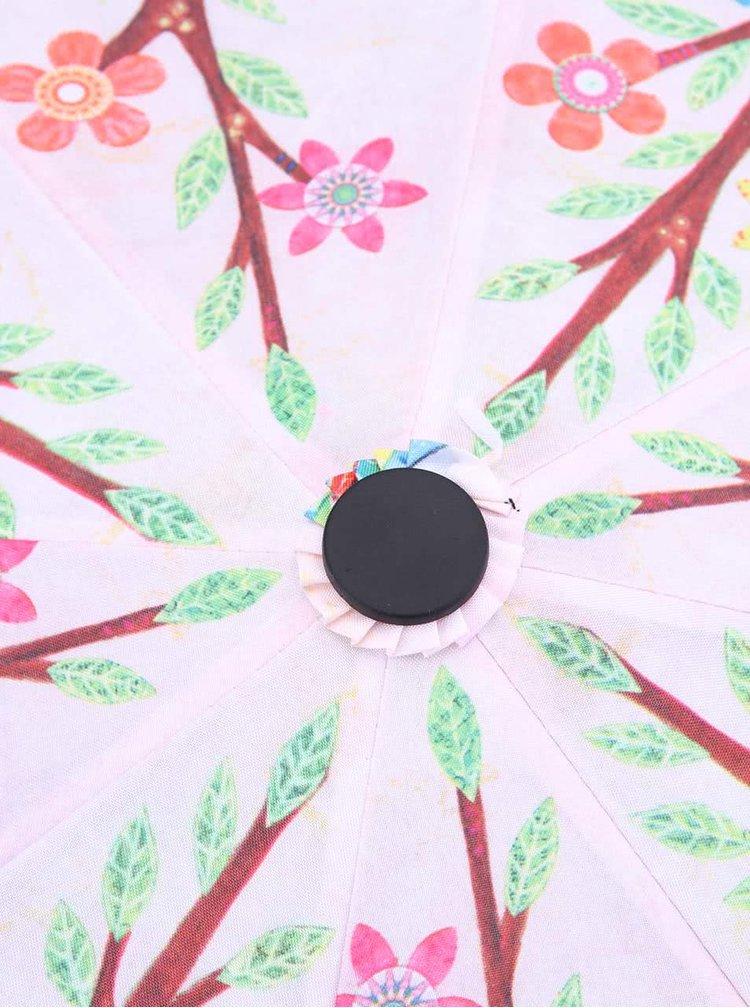 Barevný deštník s potiskem stromu s ptáčky Blooming Brollies