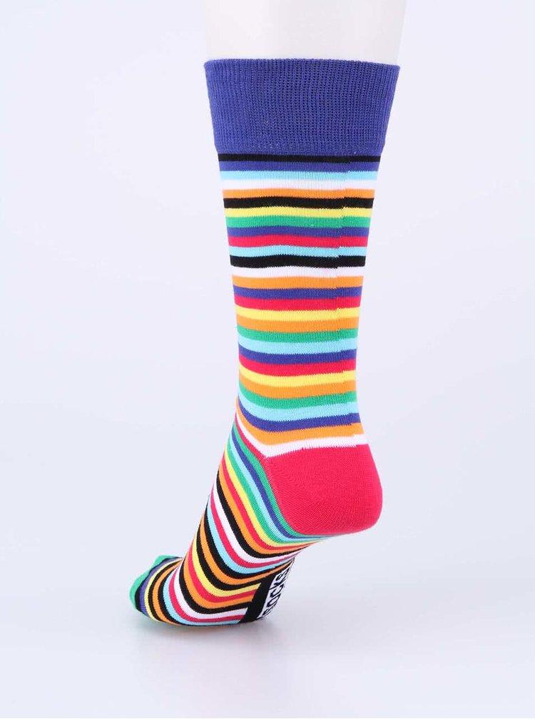 Súprava šiestich farebných pánskych ponožiek s pruhmi Oddsocks