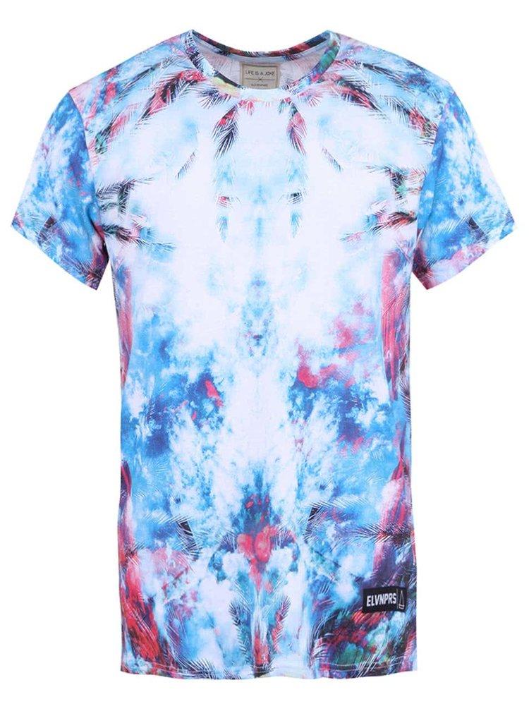 Bílo-modré pánské triko s potiskem Eleven Paris Hocean