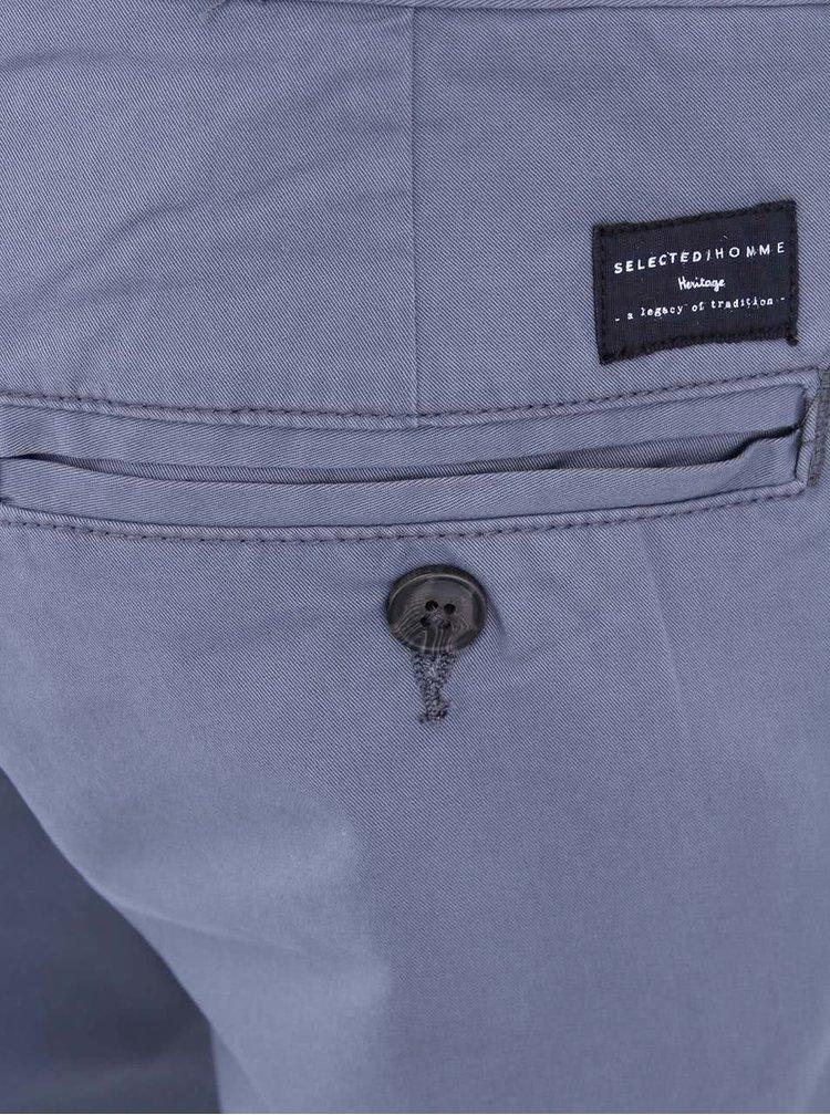 Pantaloni scurti chino albastri Selected Three Paris