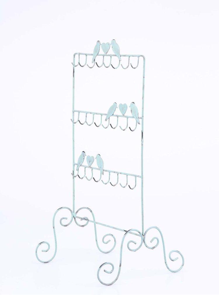 Mentolový vešiak na šperky s vtáčikmi Sass & Belle