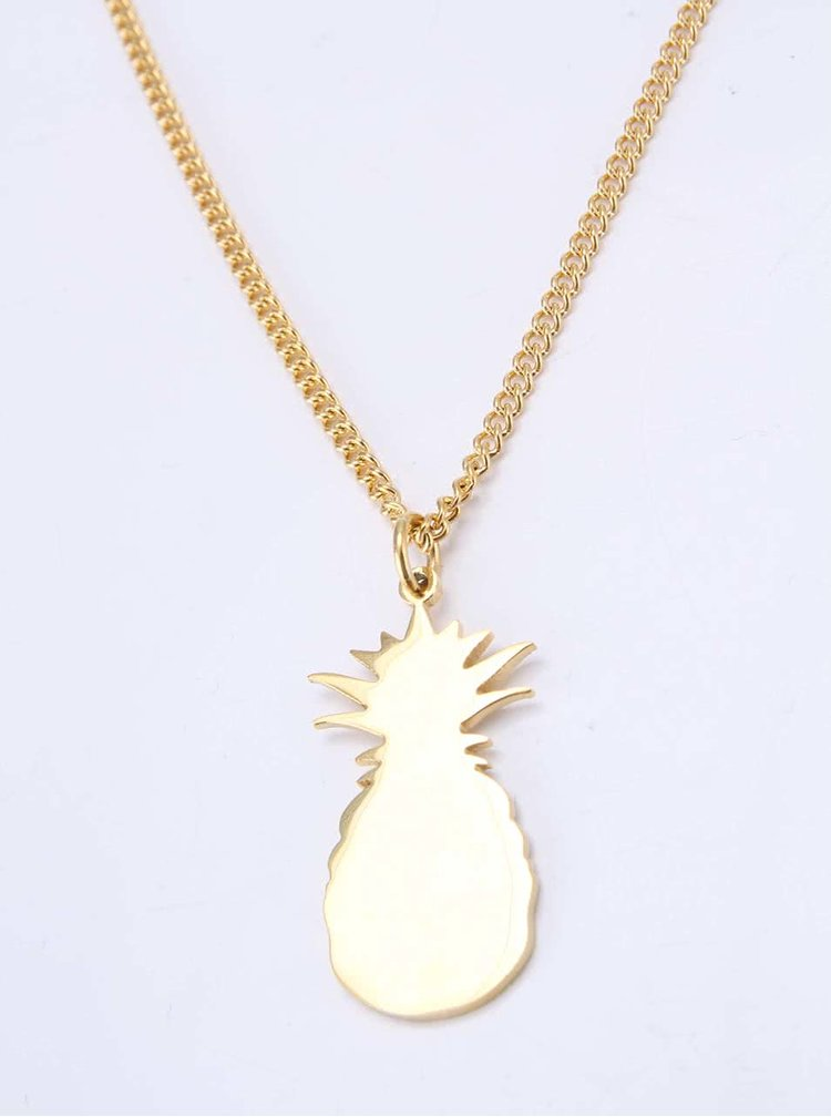Colier aurit Lady Muck cu pandantiv în formă de ananas
