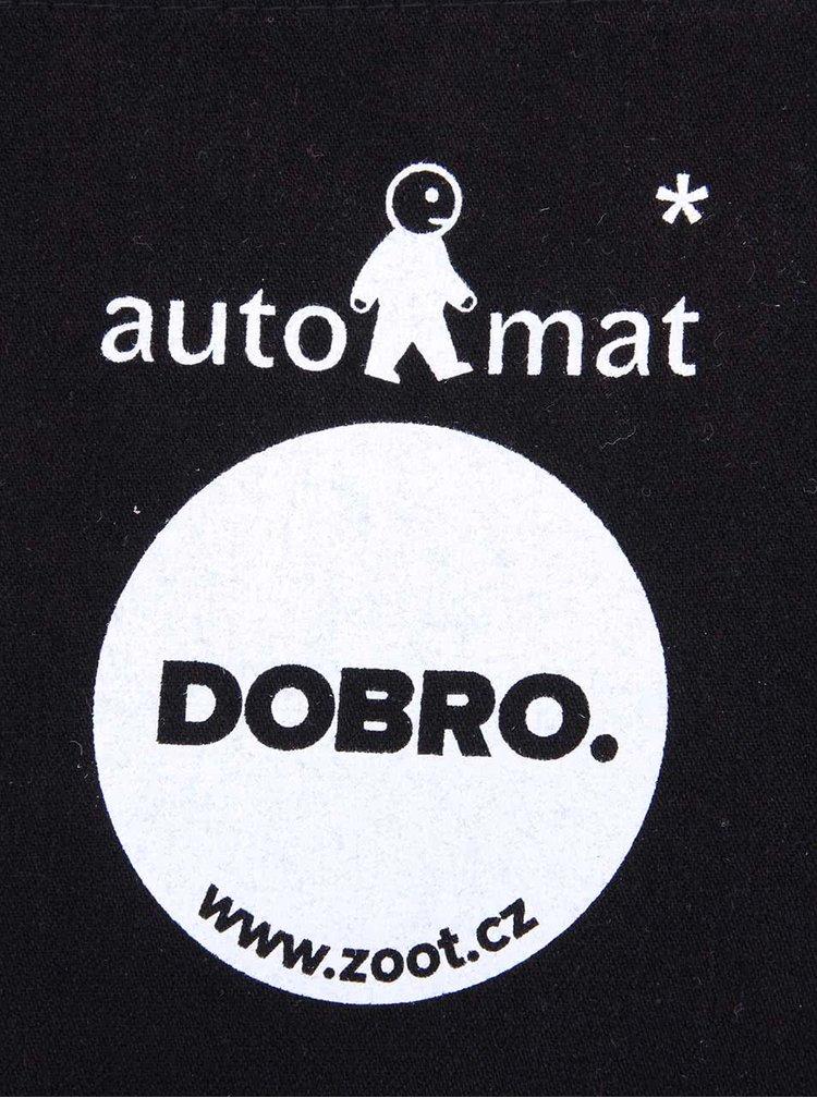 """""""Dobrá"""" černá taška s potiskem pro Auto*Mat"""