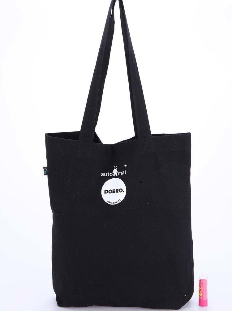 """""""Dobrá"""" čierna taška s potlačou pre Auto*Mat"""
