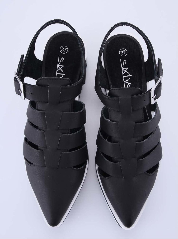 Černé sandálky na platformě Sixtyseven