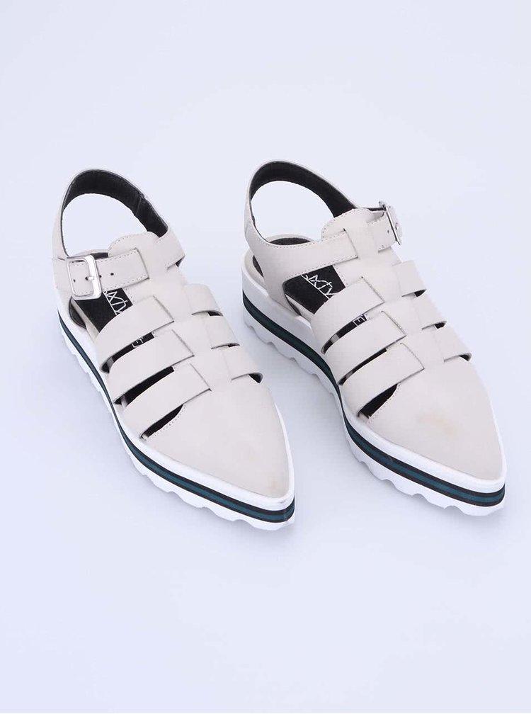 Pantofi cu platformă Sixtyseven - crem