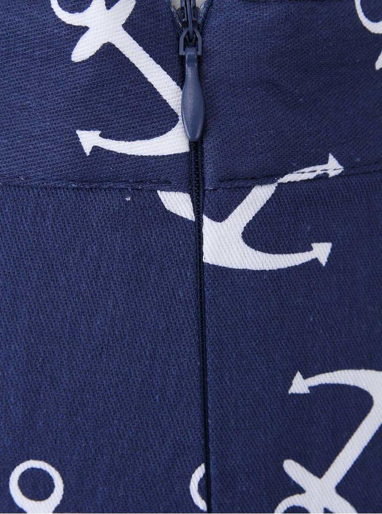 Tmavě modré kraťasy s kotvičkami Kling Anchorine