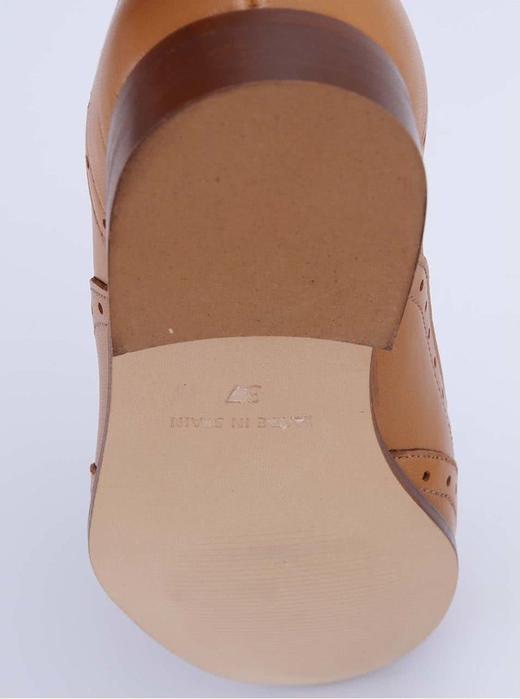 Pantofi din piele maro OJJU