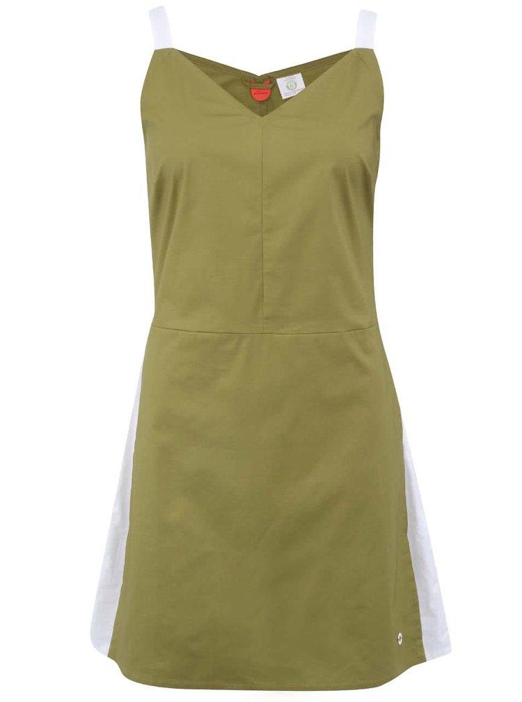 Olivově zelené šaty Skunkfunk Hahan