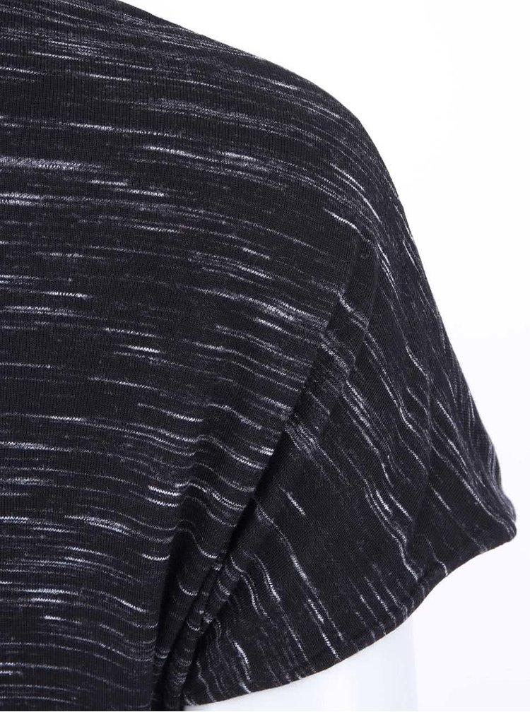 Černé žíhané šaty s krátkým rukávem Noisy May Jimmy