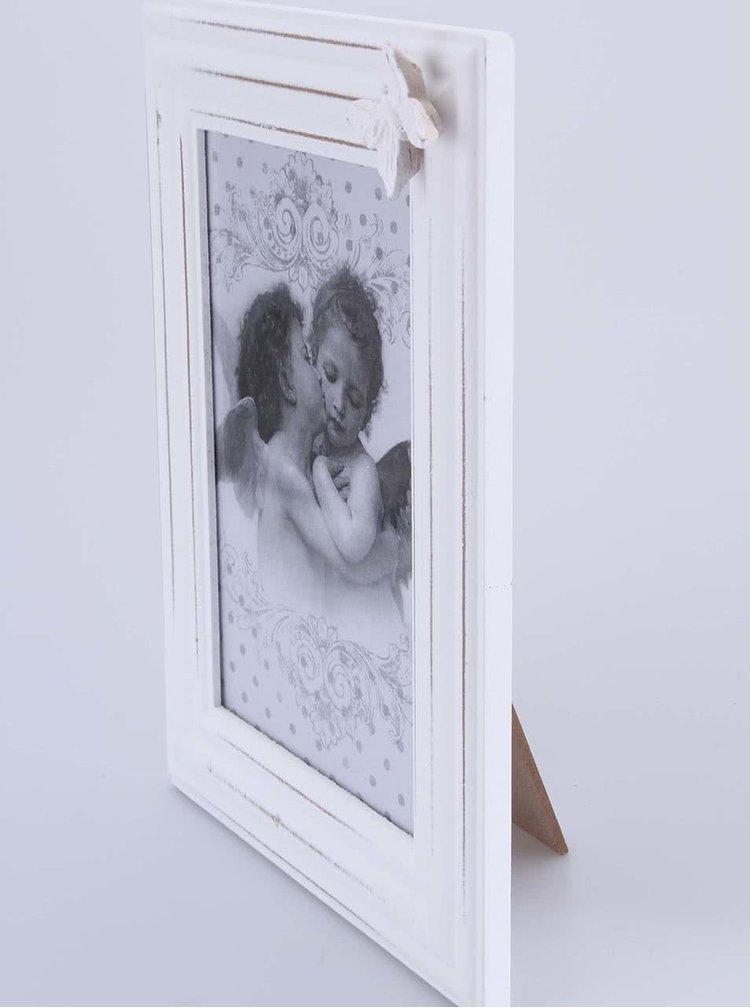 Bílý fotorámeček s motýlkem Dakls