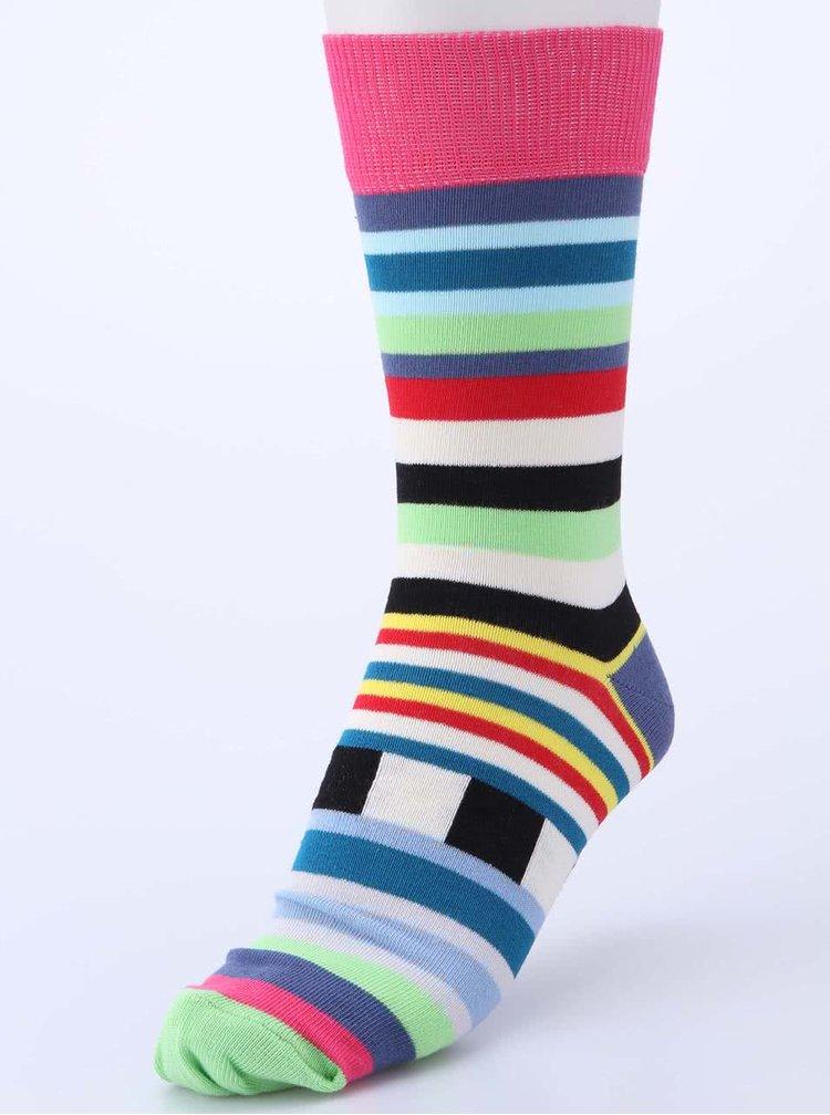 Sada šesti barevných pánských ponožek s pruhy Oddsocks Swanky