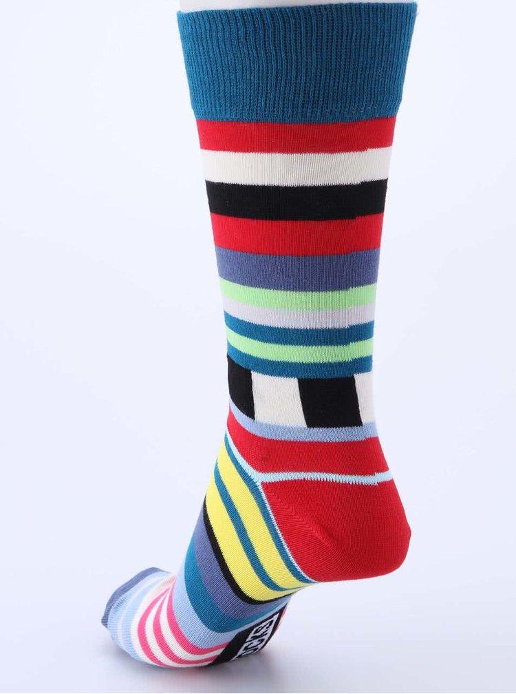 Súprava šiestich farebných pánskych ponožiek s pruhmi Oddsocks Swanky