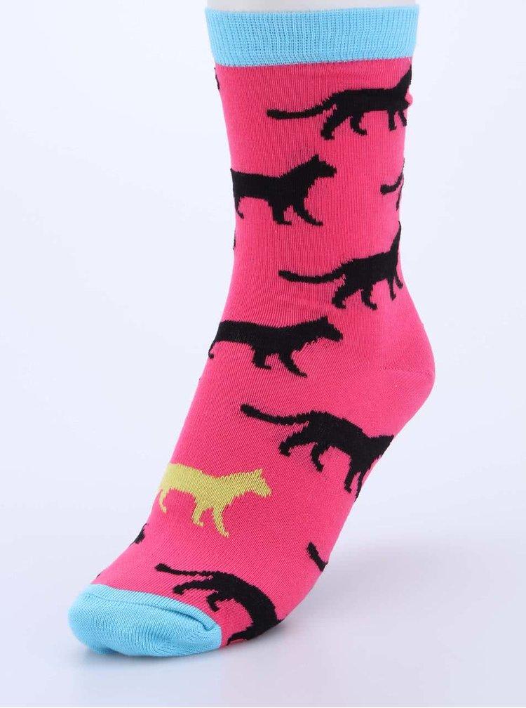 Sada tří dámských ponožek v růžové, modré a žluté barvě s šelmami Oddsocks Holly