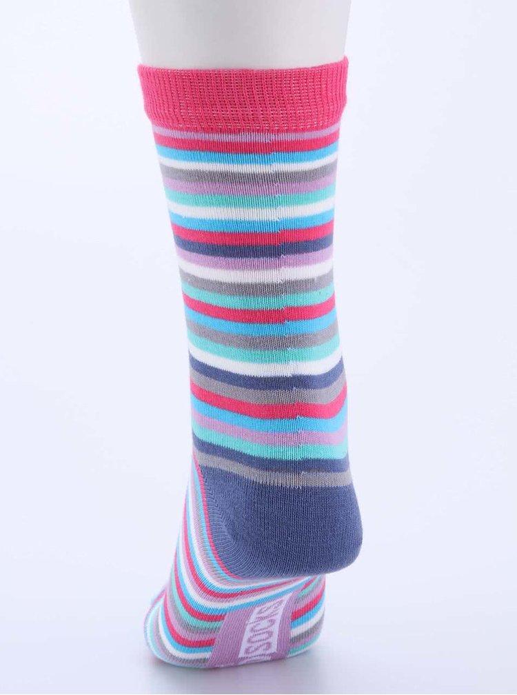Súprava troch farebných dámskych pruhovaných ponožiek Oddsocks Megan