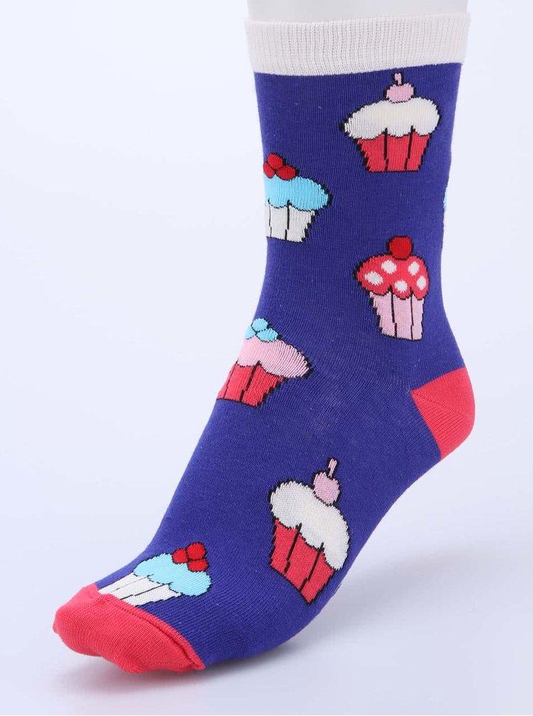 Sada šesti barevných dámských narozeninových ponožek Oddsocks Cake