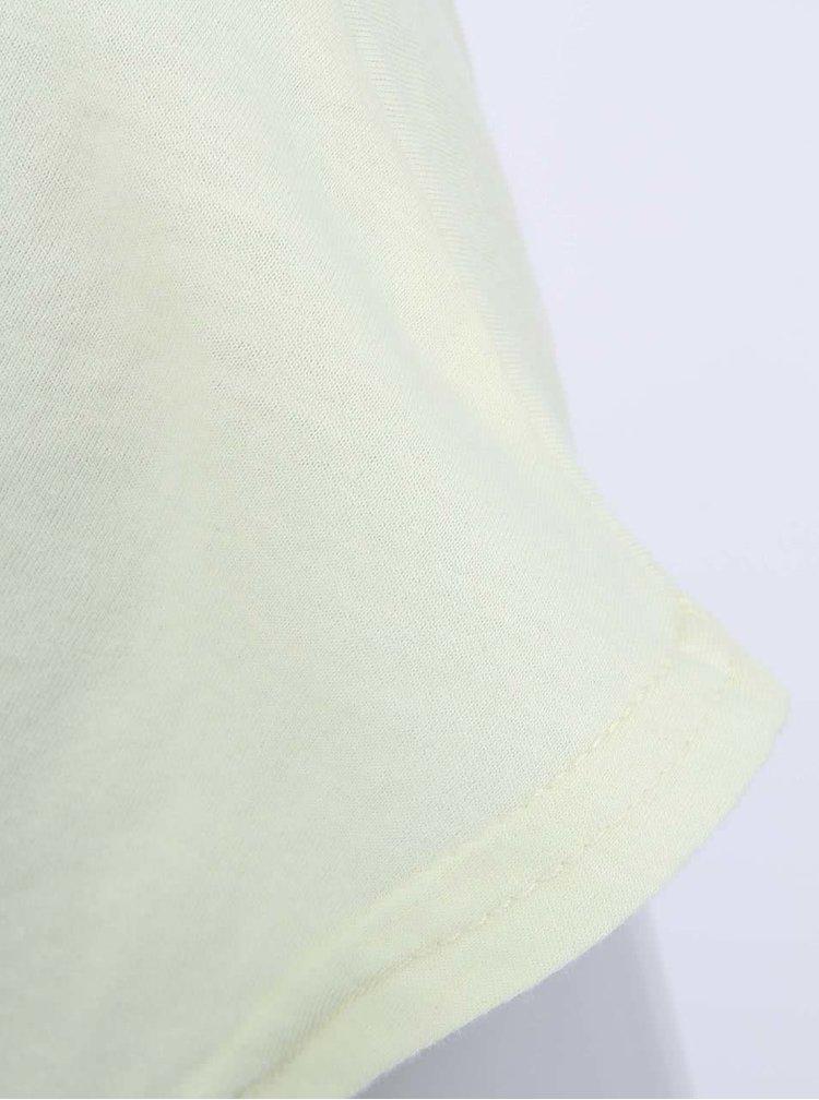 Tricou lung pentru femei Bench Maybeagain - galben