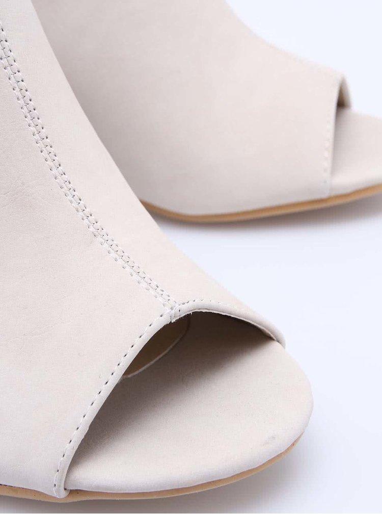 Krémové boty na podpatku s otevřenou špičkou La Push