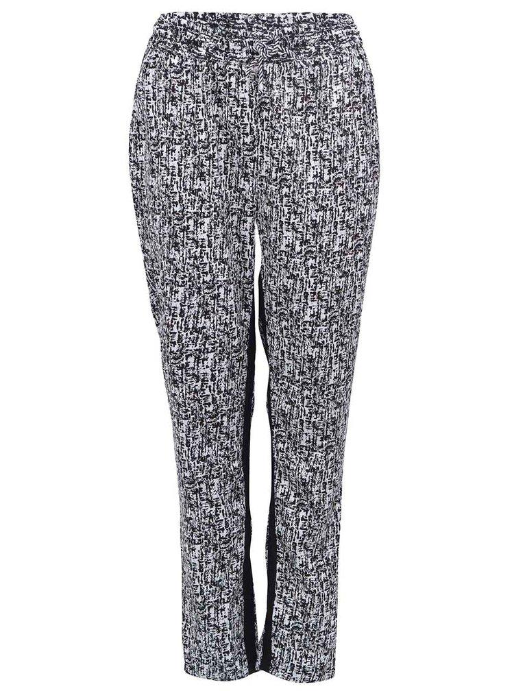Černo-bílé pohodlné kalhoty b.young Hills