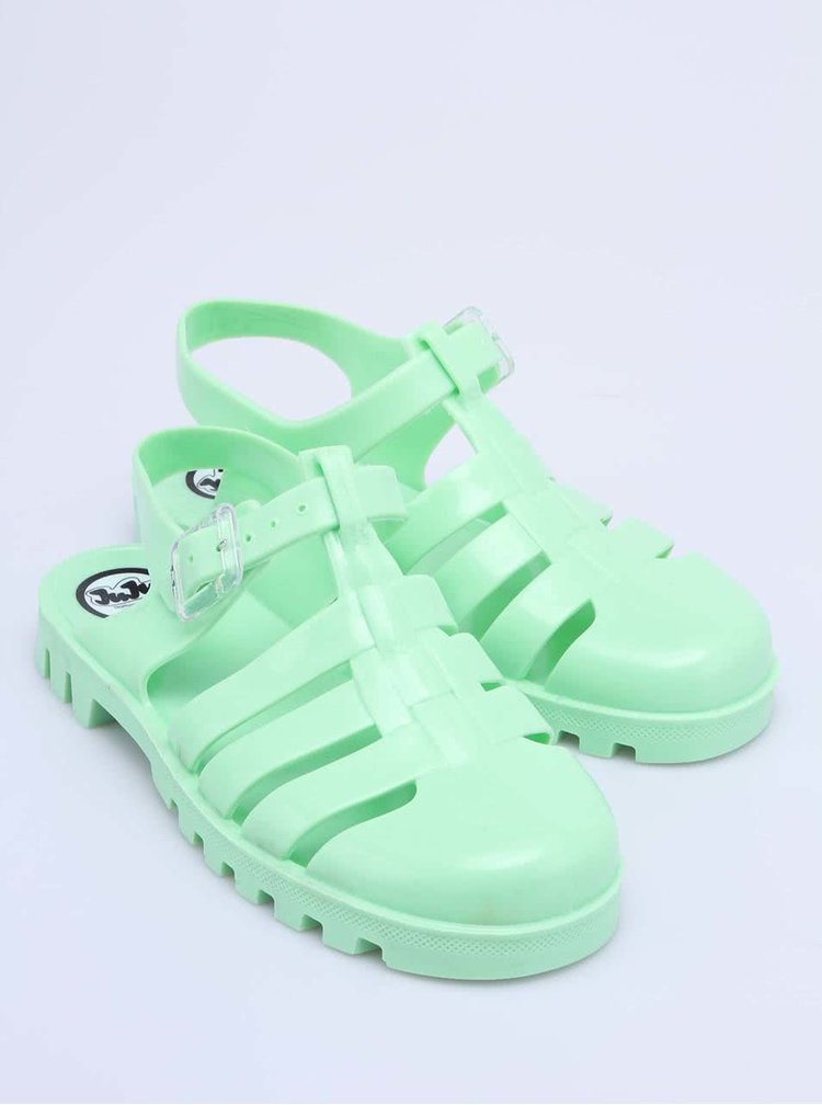 Zelené plastové sandálky JuJu Maxi