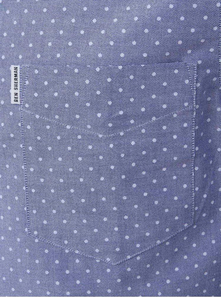 Svetlomodrá košeľa s bielymi bodkami Ben Sherman