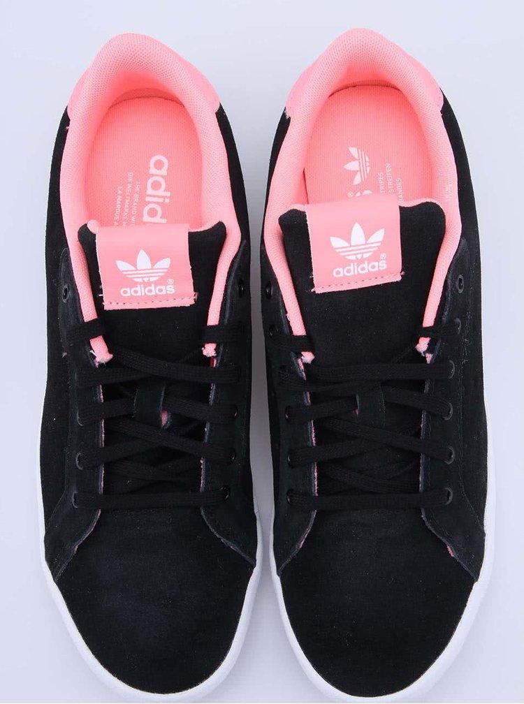 Pantofi Sport Din Piele in roz si negru Adidas Originals Miss Stan