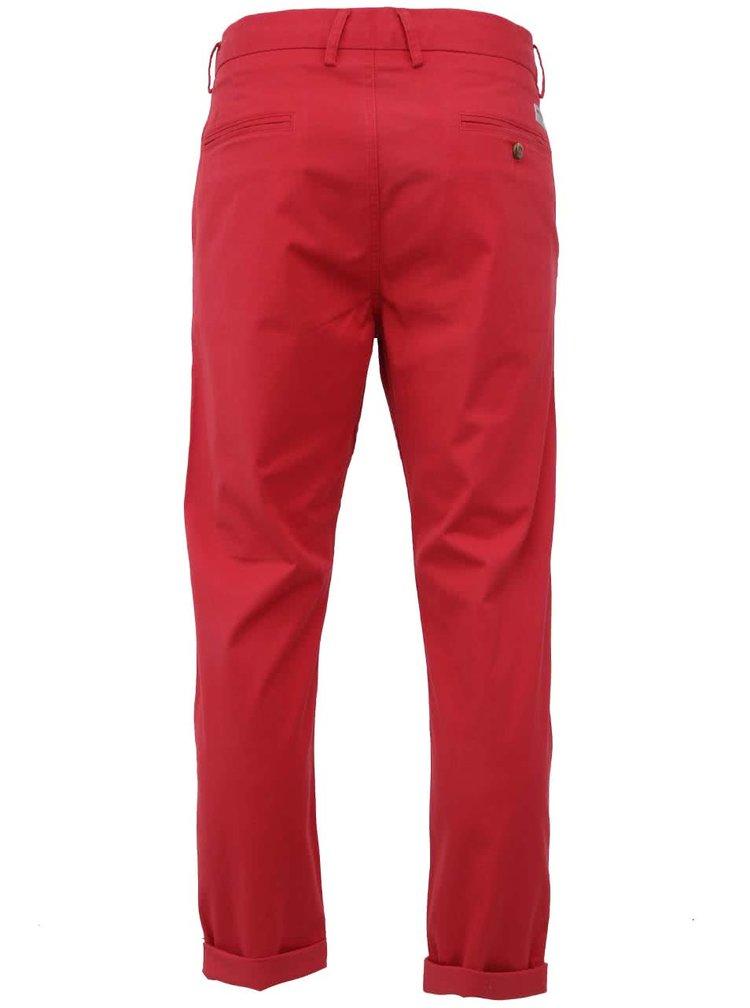 Pantaloni chino cu croiala slim Ben Sherman - rosu