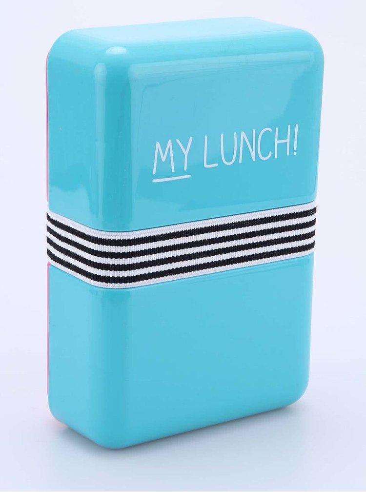 Cutie de prânz Happy Jackson My Lunch turcoaz-roz