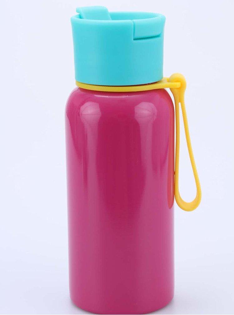 Růžová láhev na vodu Happy Jackson H2 Awesome!