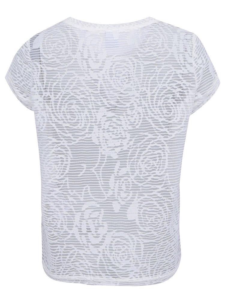 Biely transparentný top VERO MODA Glow