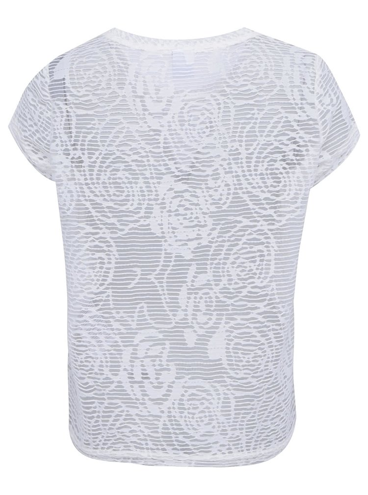 Bílý transparentní top VERO MODA Glow