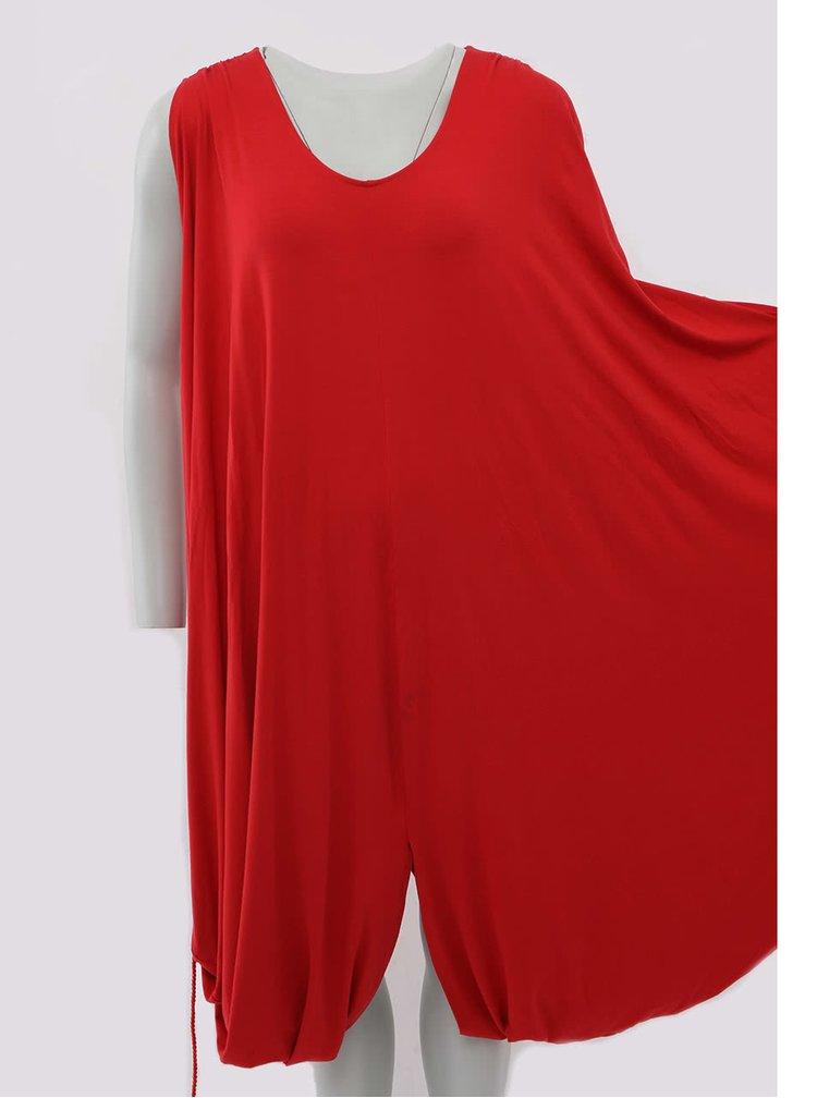 """""""Dobré"""" červené šaty s červenou šňůrkou City Souls Odivi"""