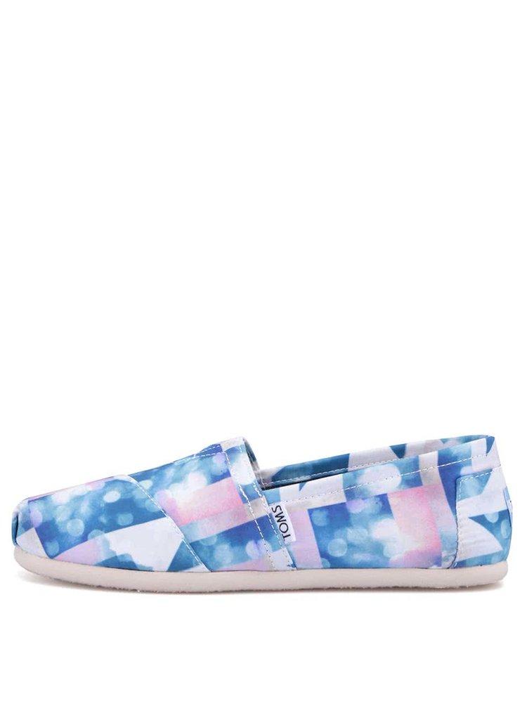Bílo-modré dámské loafers Toms Cloud Classic