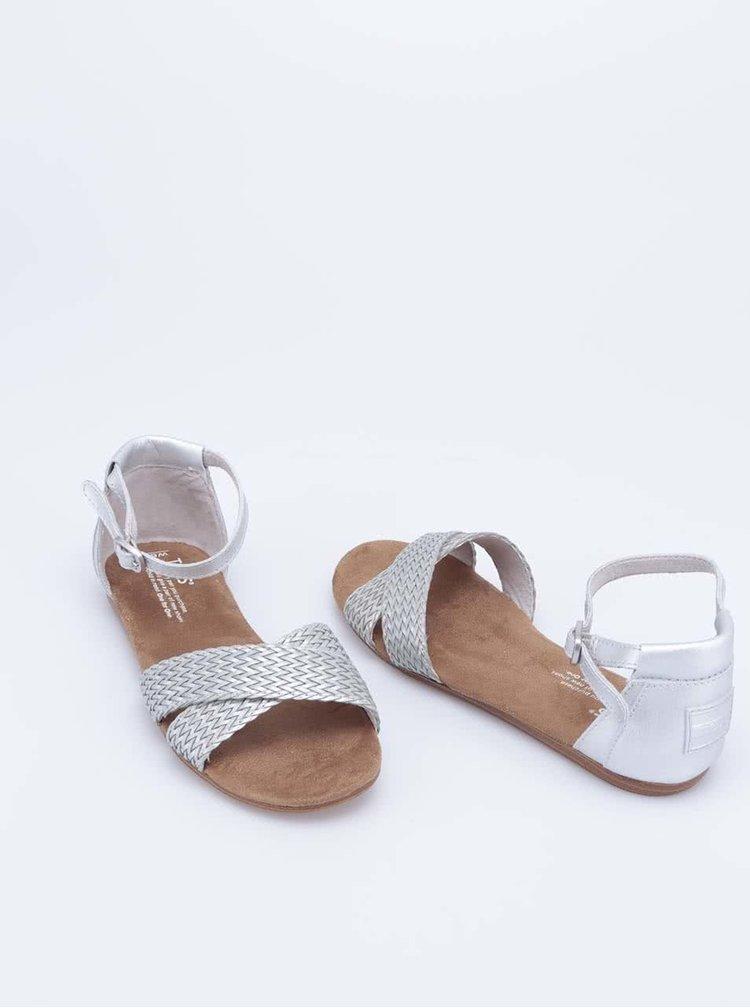 Stříbrné páskové sandálky Toms Correa