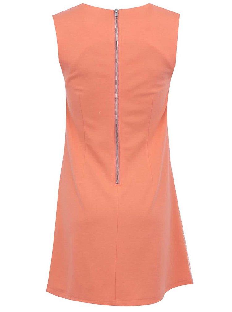Béžovo-oranžové vzorované šaty Fever London Livorno
