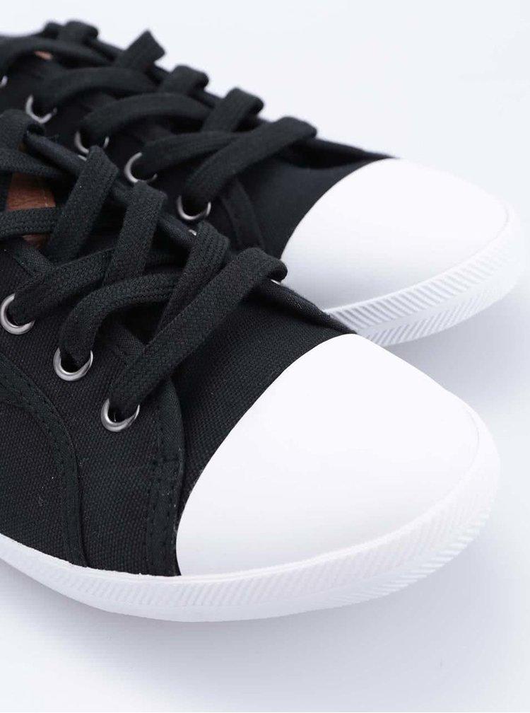 Čierne tenisky s bielou špičkou Tamaris