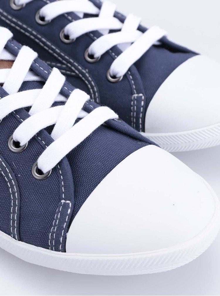 Tmavě modré tenisky s bílou špičkou Tamaris