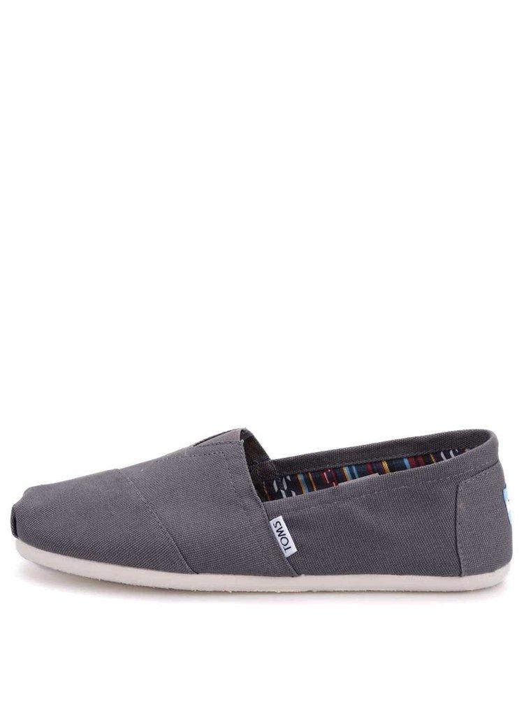 Tmavosivé pánske loafers TOMS Classic