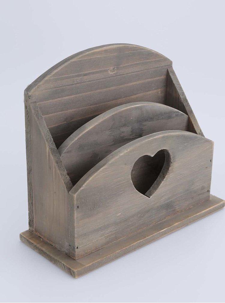Dřevěný stojánek na dopisy a dokumenty Sass & Belle
