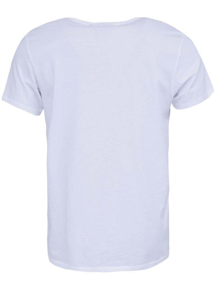 Biele tričko s potlačou WeSC Hawaii Roman
