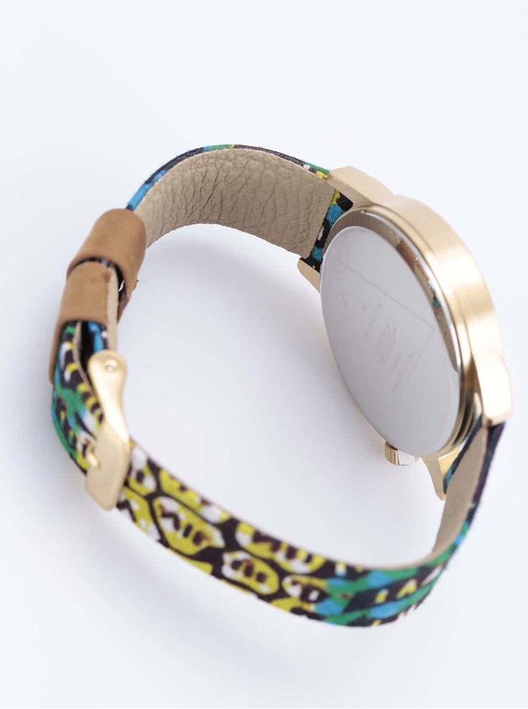 Unisex hodinky ve zlaté barvě s textilním páskem Komono Winston Gold