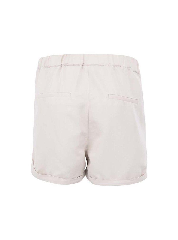 Pantaloni scurți VERO MODA Indi bej