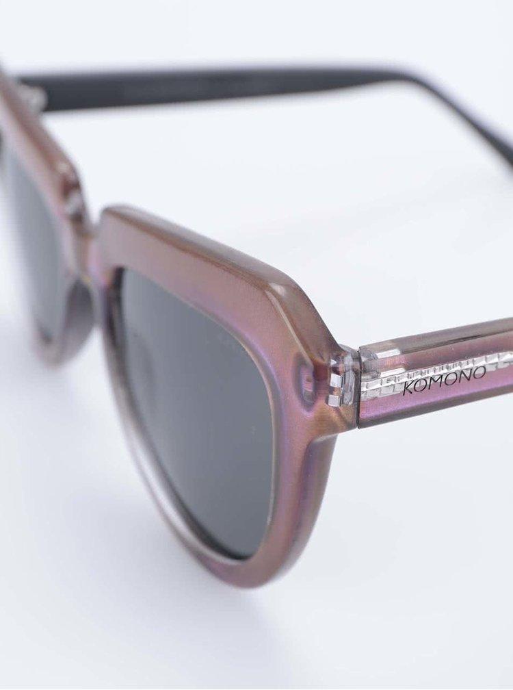 Fialové dámske slnečné okuliare Komono Stella