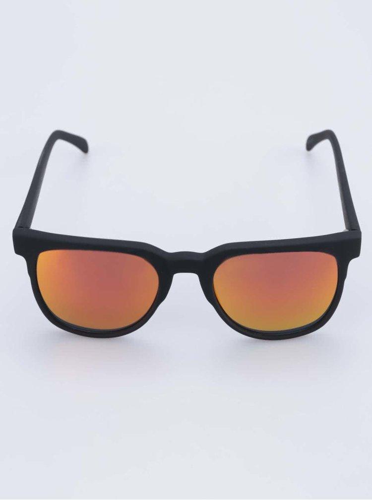 Černé unisex sluneční brýle s polarizačními skly Komono Riviera