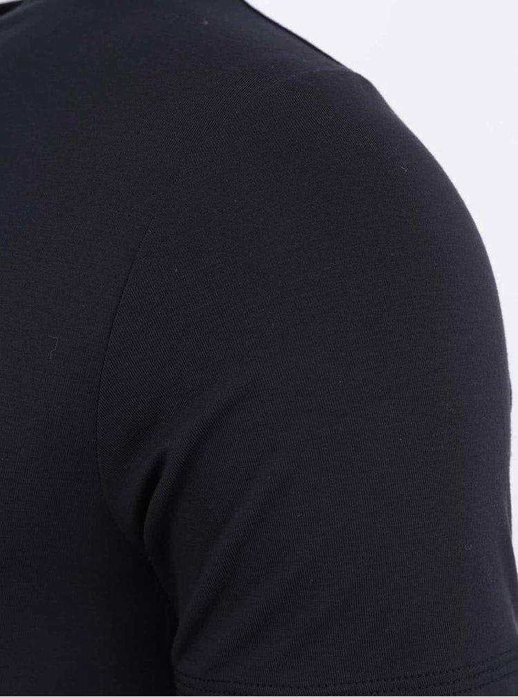 Tricou negru slim din bambus Bambutik