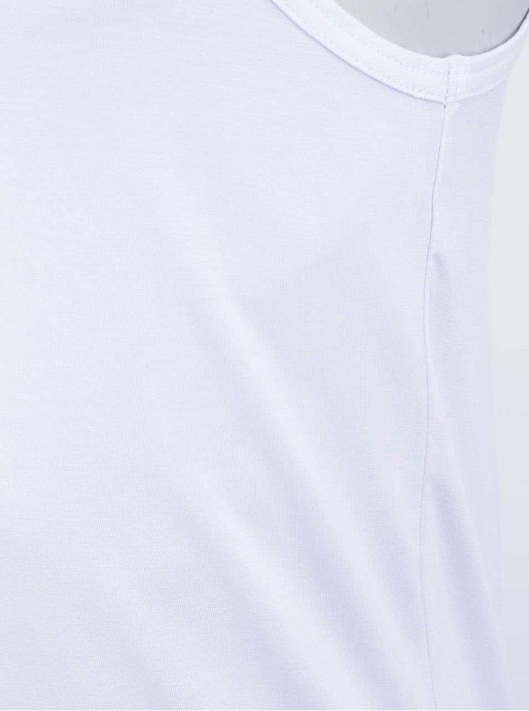 Biele bambusové tielko pod košeľu Bambutik Slim