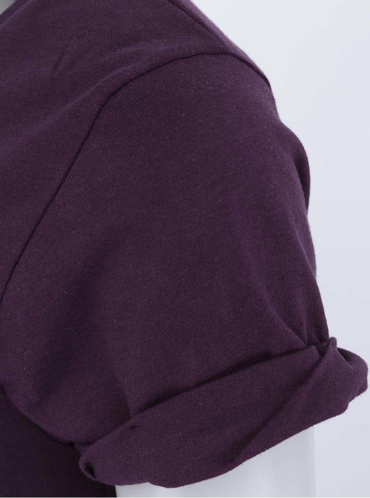 """""""Dobré"""" vínové dámské tričko s potiskem pro Tamjdem"""