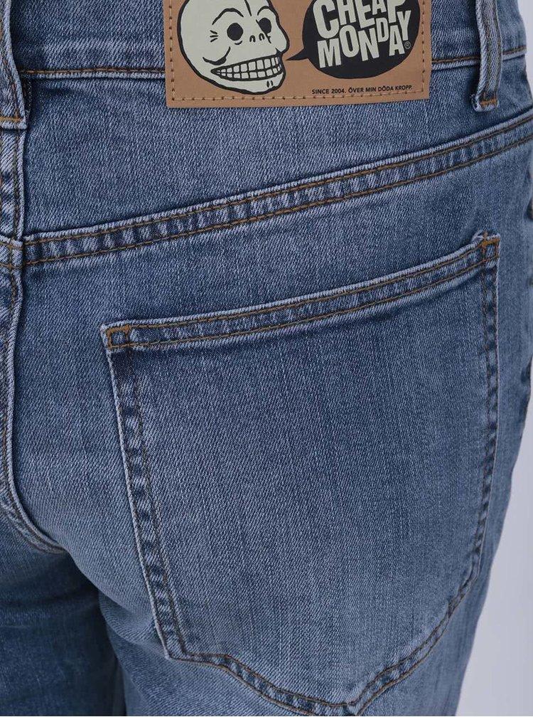Jeanși de damă albaștri mulați Cheap Monday