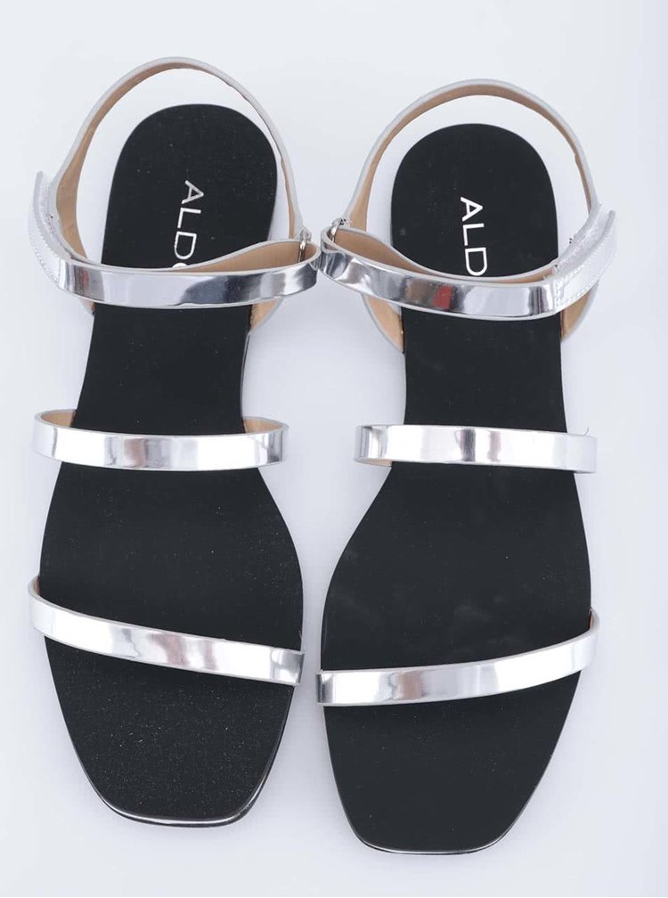Stříbrné sandálky ALDO Larieniel