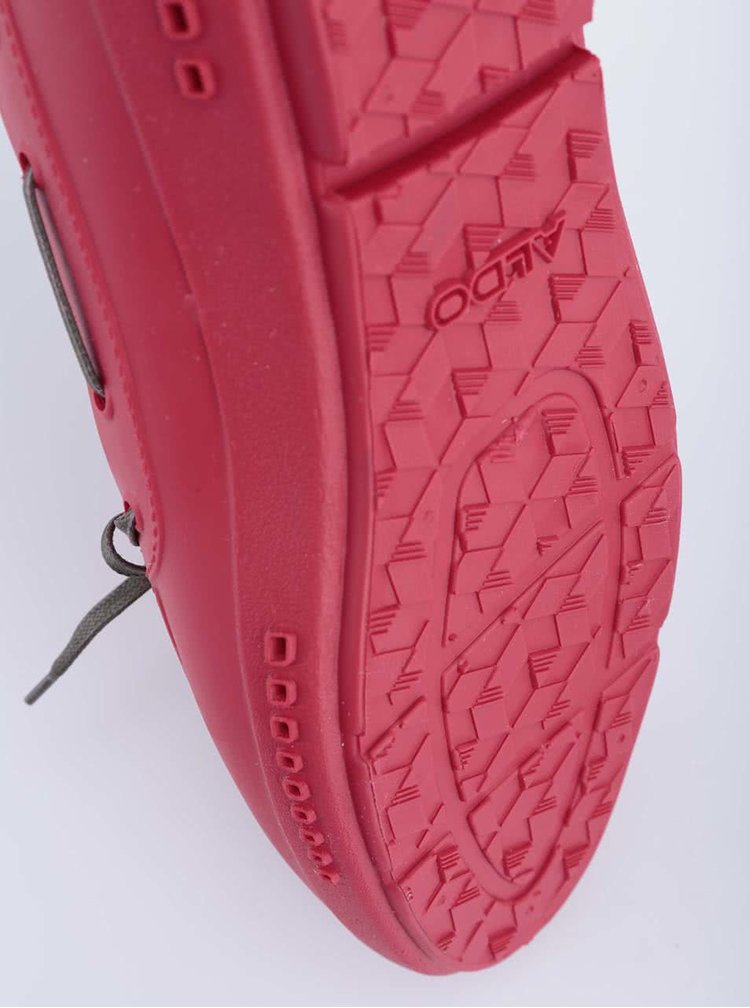 Tmavě růžové pánské gumové mokasíny ALDO Parrilli
